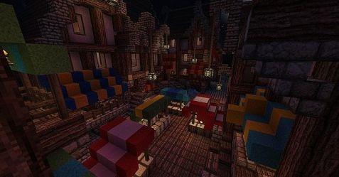 Medieval Fantasy Town Minecraft Map