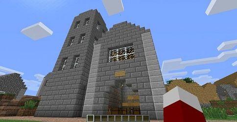 village hall town minecraft