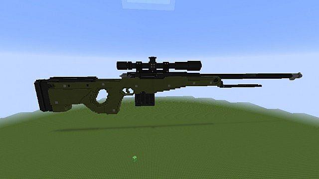 TNT Rifle Awp Minecraft Project