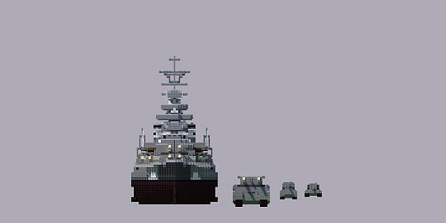 Battle ship Bismarck Minecraft Project