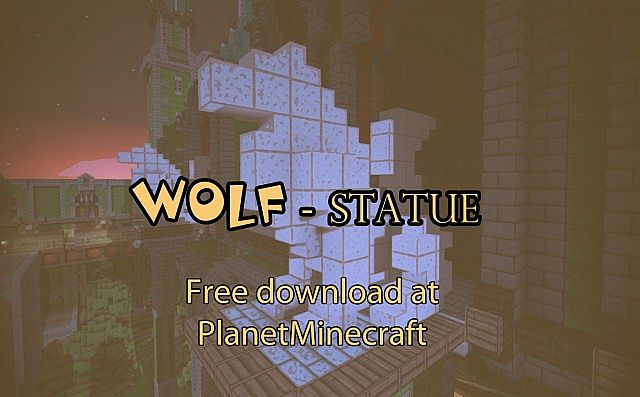 Free Download Wolf Statue Design Minecraft Project