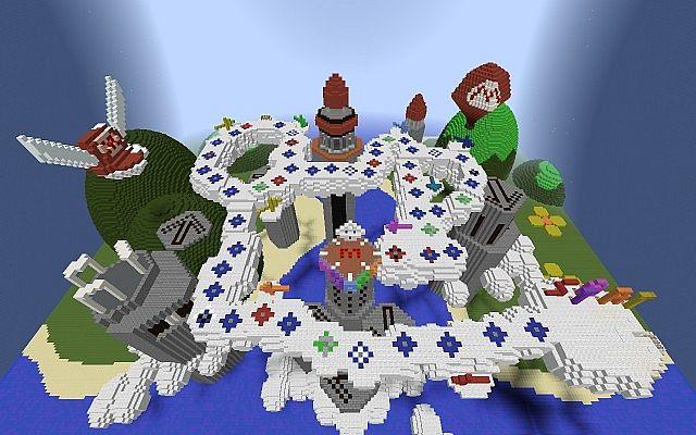 Mario Party 1 Marios Rainbow Castle Map Minecraft Project