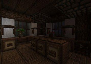 medieval blacksmith kitchen minecraft