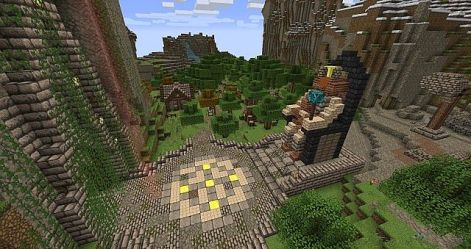 medieval square town geocraft minecraft den project dragons