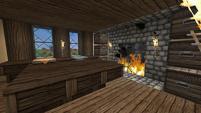 Tudor House  updated with interior design Minecraft Project