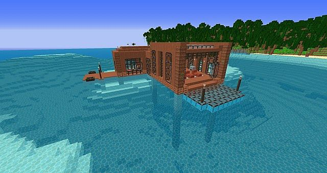 Tropical Island And House Minecraft Project