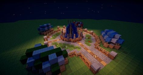 market medieval square town fountain stalls minecraft turned could into project planetminecraft