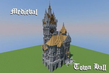 medieval hall town minecraft map blueprints planetminecraft designs project cool castle schemagic pmcview3d