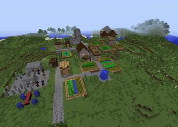 village remodel minecraft 3d rotation pmcview3d schemagic