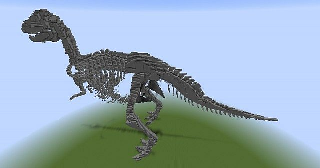 T Rex Skeleton 3 Different Sizes Minecraft Project