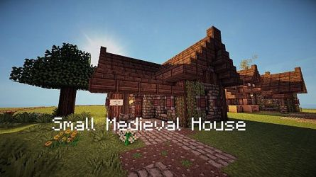 1 7] Small Medieval House Schematic Minecraft Map