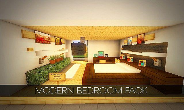 Modern Bedroom Interior Pack 4 Download Pop Reel Minecraft Map