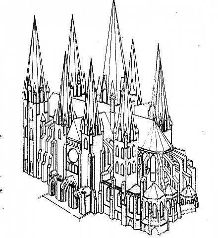 Chartres Cathedral(with download) Minecraft Project