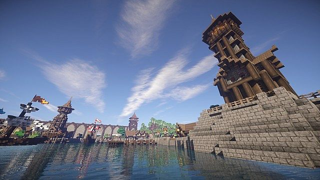Amaroth  Medieval Port City  Minecraft Project