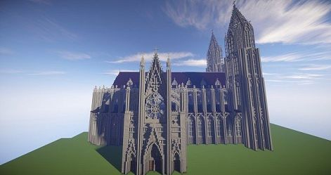 gothic cathedral minecraft diamonds