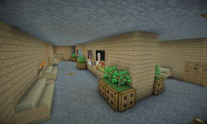 hall tower wooden minecraft corridor v2