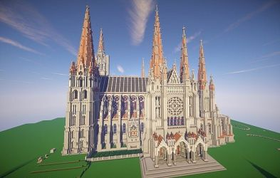 cathedral chartres minecraft unfinished dl lady project