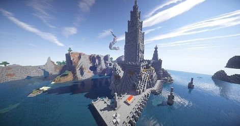 evil castle medieval fantasy minecraft diamonds