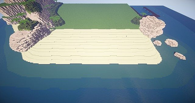 Boom Beach In Minecraft Island Buildings Minecraft