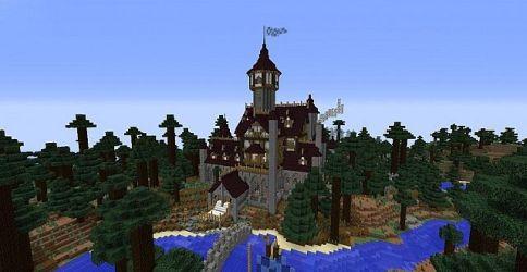 dream mansion medieval minecraft diamonds