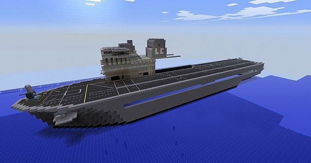 HMS Titan Inspired In HMS Ocean L12 Minecraft Project