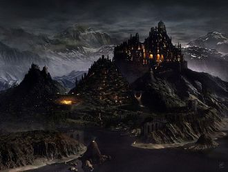 medieval mountain huge minecraft fantasy town geistig cities diamonds