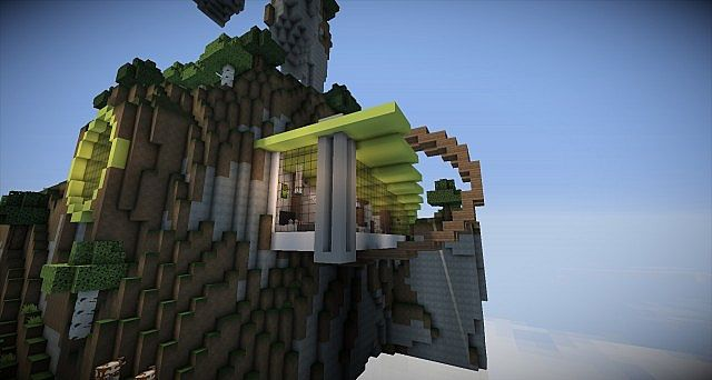 Modern Nature Concept House Minecraft Project