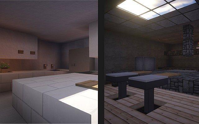 2 Easy Modern Kitchen Designs Minecraft Project