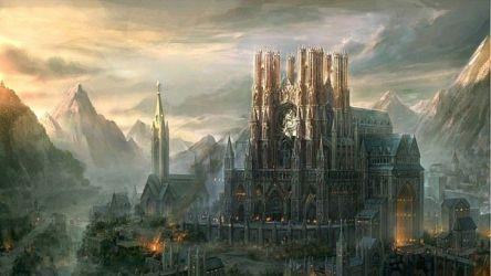 castle fantasy huge castles medieval minecraft inspiration wall