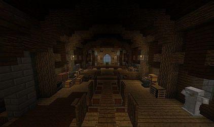 town medieval hall schemagic minecraft map