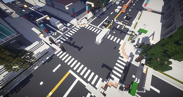 Minecraft City Highway Huntington