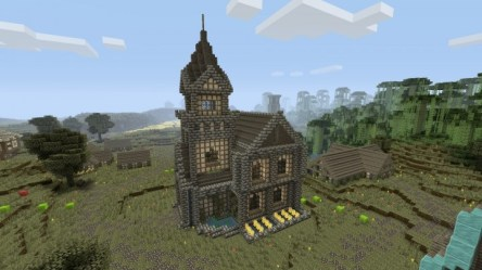 town medieval hall minecraft project