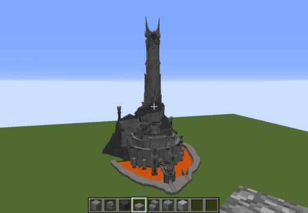 BaradDur Lord of the Rings Sauron Fortress Minecraft