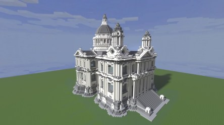 hall town minecraft cathedral paul imgur townhall pauls comments project inspired viewer