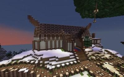 hall town viking nordic medieval minecraft diamonds