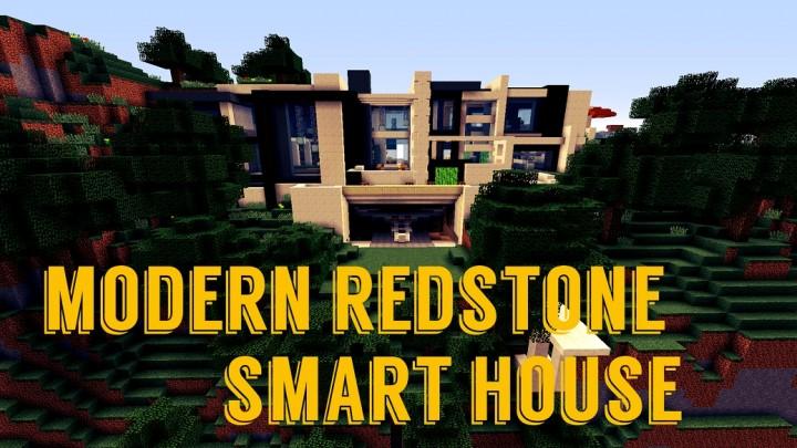 Modern Redstone Smart House Minecraft Project