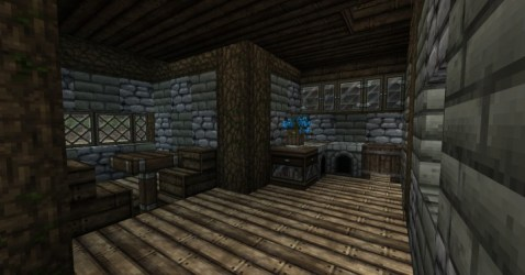 Zyria Medieval House Interior 1 Minecraft Map