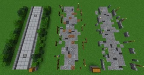 medieval minecraft environment keyboard arrow right diamonds