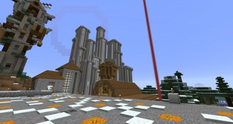 hall town modern project minecraft