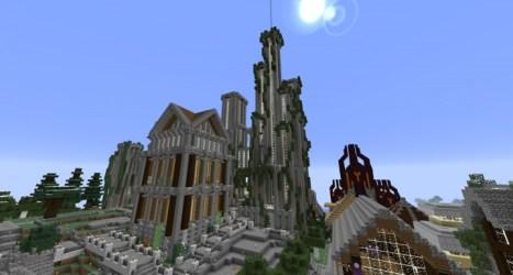 hall town modern minecraft