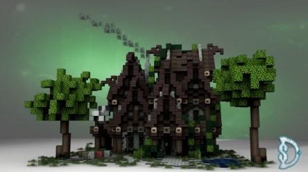 hall medieval town minecraft intro