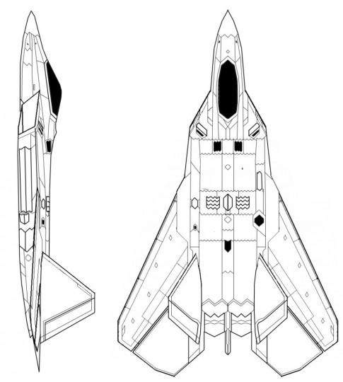 Navy F-22 Top View