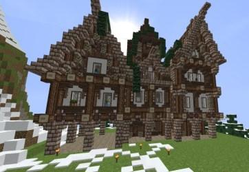 hall town medieval minecraft diamonds