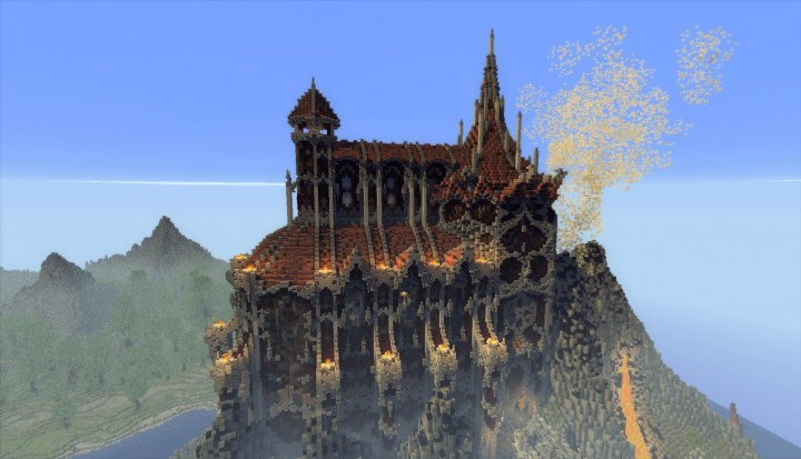 Timelapse Tithan The Fantasy Kingdom Minecraft Project