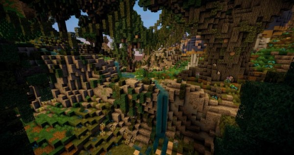 25+ Minecraft Forest Landscape Magical Pictures and Ideas on