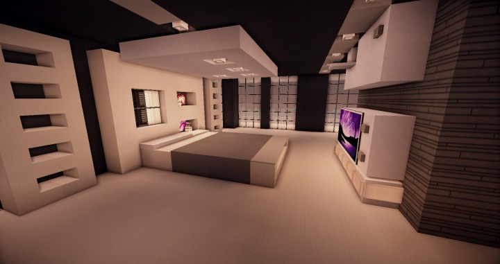Simple Modern Bedroom Minecraft Novocom Top