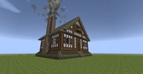 Simple Medieval House Minecraft Map