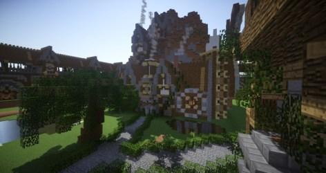 fantasy town medieval minecraft map diamonds