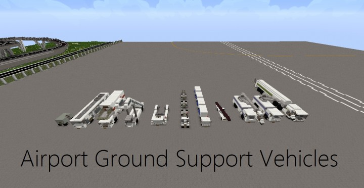 Airport Ground Support Vehicles Pack Minecraft Project