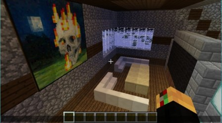 fancy modern room living minecraft muesem tv